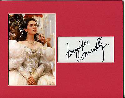 Jennifer Connelly Sexy Rare Labyrinth Signed Autograph Photo Display