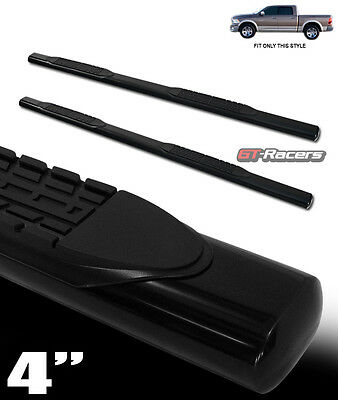 "4"" Hd Black Side Step Nerf Bars Running Boards 2009-2015 Dodge Ram 1500 Crew Cab"
