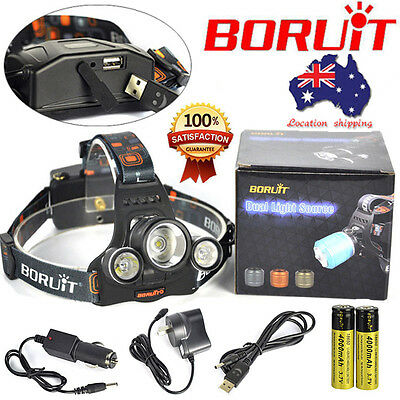 Underwater 100m Diving 7000lm XM-L2 LED Flashlight Scuba Torch+2x18650 + Charger