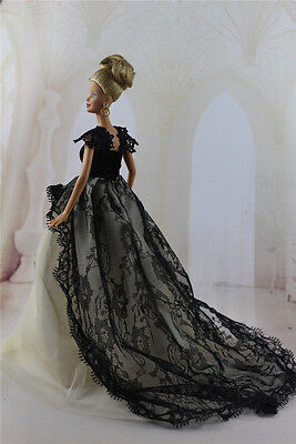 Fashion Handmade Princess Dress Wedding Clothes Gown for Barbie Doll e20
