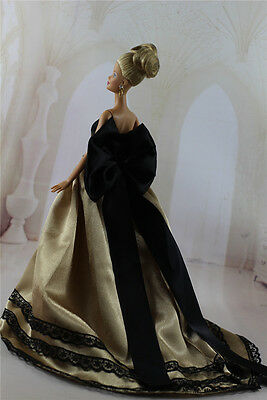 Fashion Handmade Princess Dress Wedding Clothes Gown for Barbie Doll e21