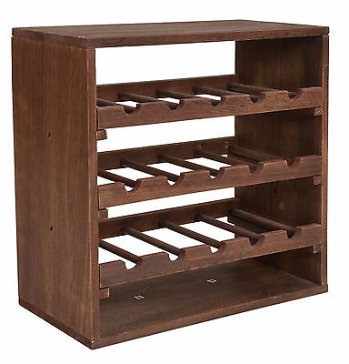 weinregal cube dunkelbraun 15 flaschen flaschen regal holz wein stapelbar keller eur 39 90. Black Bedroom Furniture Sets. Home Design Ideas