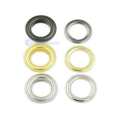"""Grommets Eyelets 4/16"""" 3/10"""" 3/8"""" 1/2"""" 6mm 8mm 10 12mm Clothes Self Backing UUUU"""