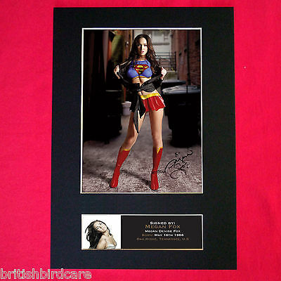MEGAN FOX supergirl Mounted Signed Photo Reproduction Autograph A4 385