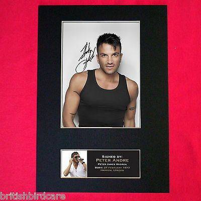 PETER ANDRE No1 Autograph Mounted Signed Photo RE-PRINT A4 165
