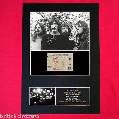 PINK FLOYD Autograph Mounted Signed Photo RE-PRINT A4 193