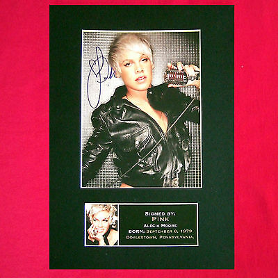 PINK Mounted Signed Photo Reproduction Autograph Print A4 230