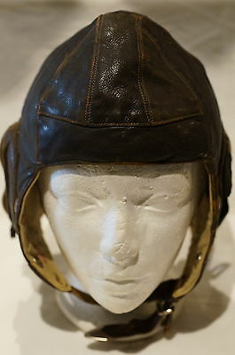 WW2 British Battle Of Britain Type B Pilots Leather Helmet 1940 Size 6 7/8 to 7