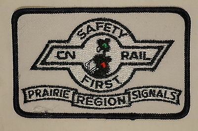 Canadian National Rail CN Safety First Prairie Region Signals Patch