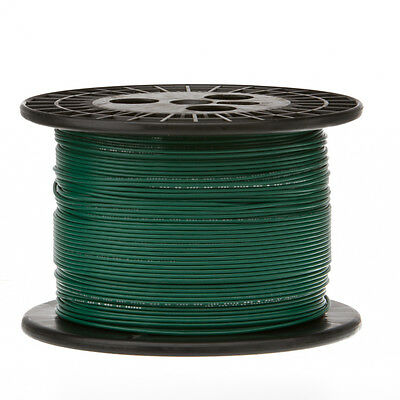 "16 AWG Gauge Solid Hook Up Wire Green 500 ft 0.0508"" UL1007 300 Volts"