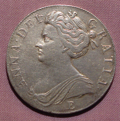 1707 E Queen Anne Crown - Sexto - Nice Grade Coin