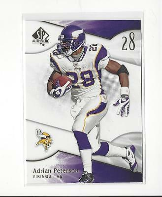 2009 SP Authentic #63 Adrian Peterson Vikings