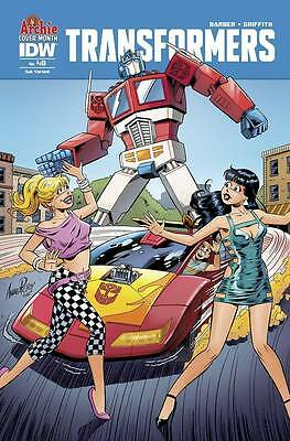 Transformers Robots In Disguise #48 (NM) `15 Barber/ Griffith (Sub Cover)
