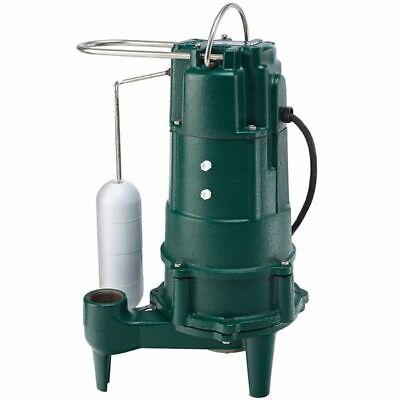 "Zoeller M803 - 1/2 HP Cast Iron Residential Grinder Pump (1-1/4"") w/ Vertical..."