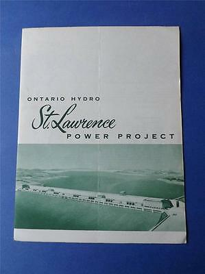 Ontario Hydro St. Lawrence Power Project Leaflet Fold Out Information 1956