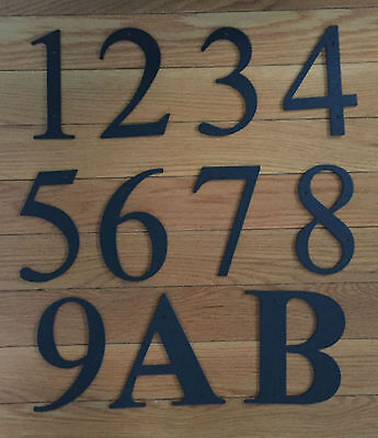 """Black Metal 6"""" HOUSE NUMBERS Wrought Iron Signage for Home Address"""
