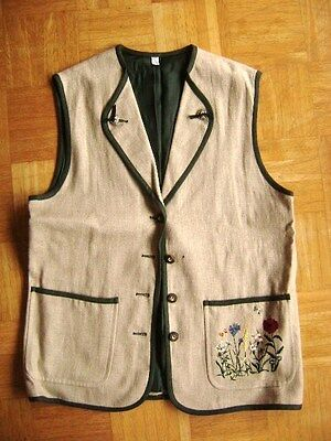 @ Forum collection @ Gilet Lin Costume folklorique allemand beige Taille 42/44