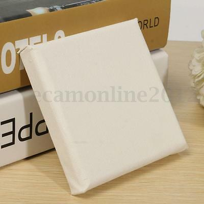10cm White Blank Square Artists Canvas Board Wood Frame Art Acrylic Oil Painting