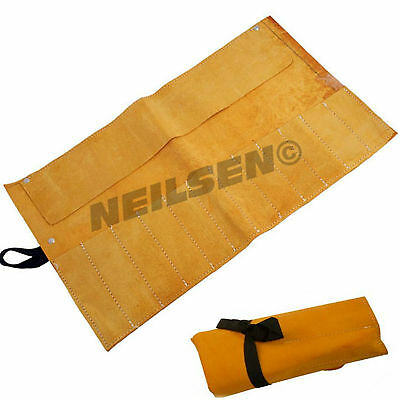 Neilsen Leather Tool Roll Pouch Storage Case Fold Up Chisels Spanners Pliers 28c