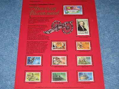 The American Bicentennial Grenada  Stamps Collection Mountable Placard B6914