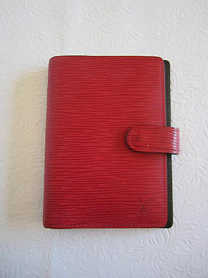 Louis Vuitton Agenda - Day Planner -Red Epi Leather  #1428