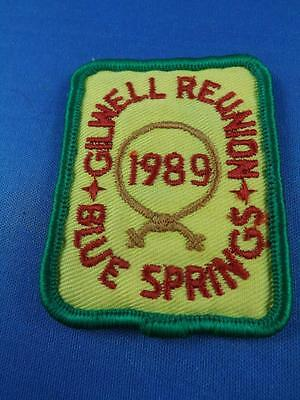 Boy Scouts Canada Gilwell Reunion 1989 Blue Springs Patch Collector Badge