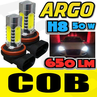Audi Bmw Vw H8 708 Cree 12W Xenon White Led Fog Light Bulbs Projector Cob Canbus