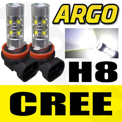 Audi Bmw Vw H8 708 Cree 50W Xenon White Led Fog Light Bulbs Projector Cob Canbus