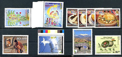 Bolivia 2012 - 6 Different Complete Sets Mnh Vf