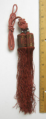 HANDMADE RARE Chinese Sewing Basket Silk Tassels 1900-1920 From Betty-lou 26