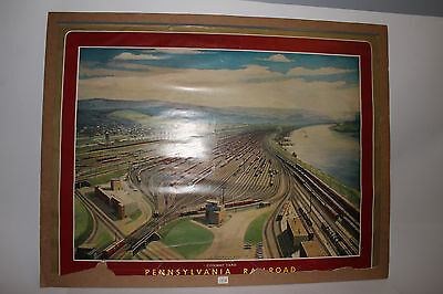 1958 Pennsylvania Railroad Conway Yard Poster Picture Calendar, Original