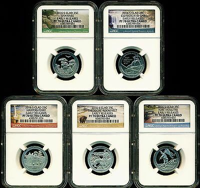 2016 S Proof Clad Quarter Set Ngc Pf70 Uc Er Early Releases Atb National
