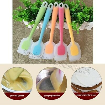 Colorful No Stick Cake Mixing Bakeware Scraper Cooking Stirring Spatula Silicone