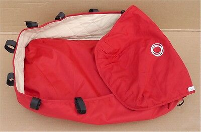 Bugaboo Frog Bassinet Zippered Red Covered Board with Sleeping Bag/Padding