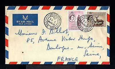 9628-MAURITIUS-AIRMAIL COVER ROSE HILL to BOULOGNE (france) 1956.Aerien.Maurice.