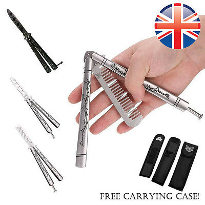 *UK Seller* Dragon Sheath Butterfly Comb Knife Balisong Practice Tool Blunt