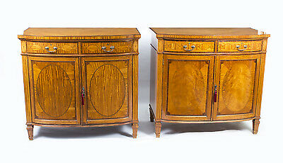 Antique Pair Satinwood Commodes Cabinets Maple & Co c.1880