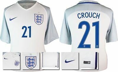 *2016 - Nike ; England Home Shirt Ss / Crouch 21 = Size*
