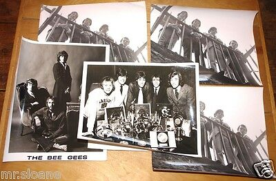 BEE GEES 5 ORIGINAL1960s NEWSPAPER PUBLICITY PRESS PHOTOS BAND GROUP SHOTS
