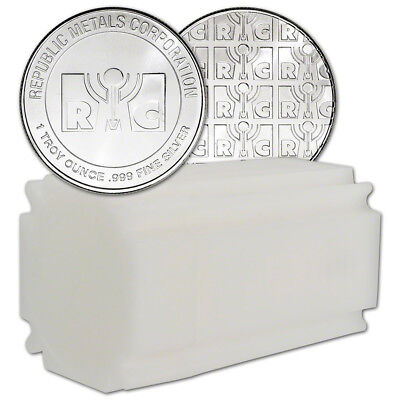 20-pc. 1 oz. Silver Round - RMC .999 Fine - (Lot, Roll ,Tube of 20)