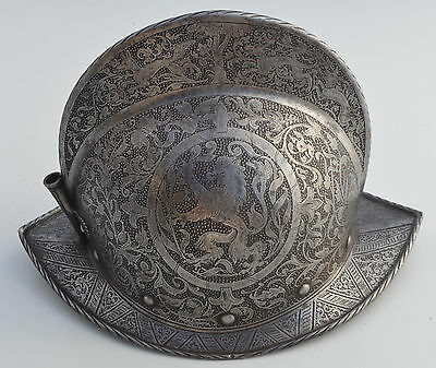 Profusely Etched German Morion Helmet, Dated 1581
