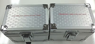 Alluminium 150 Card Set premium Storage Box x 2 - 150 Trading Card set