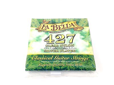 La Bella Guitar Strings Classical  427 Elite Clear Nylon Silver Plated