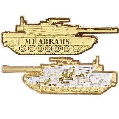 """M1 Abrams Army Military Tank 3"""" Medallion Challenge Coin"""