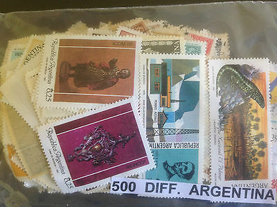 1500 Different Argentina Stamp Collection