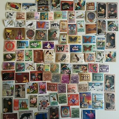500 Different Bhutan Stamp Collection