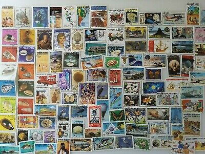 250 Different Djibouti Stamp Collection