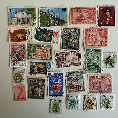 100 Different Fiji Stamp Collection