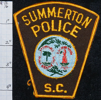 South Carolina, Summerton Police Dept Gold Edge Patch