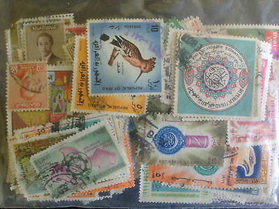 400 Different Iraq Stamp Collection